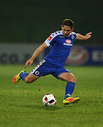 Dean Furman (C) of SuperSport United during the 2016 Premier Soccer League match between Supersport United and The Free Stat Stars held at the King Zwelithini Stadium in Durban, South Africa on the 24th September 2016<br /> <br /> Photo by:   Steve Haag / Real Time Images