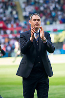 Football - 2016 / 2017 Premier League - Swansea City vs. West Bromwich Albion<br /> <br /> Swansea City manager Paul Clement applauds the fans as he leads his team around the pitch after the game , at Liberty Stadium.<br /> <br /> COLORSPORT/WINSTON BYNORTH