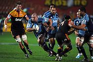 Tony Woodcock on the burst. Investec Super Rugby - Chiefs v Blues, Waikato Stadium, Hamilton, New Zealand. Saturday 26 March 2011. Photo: Andrew Cornaga / photosport.co.nz