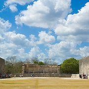 Ball game courtyard detail at Chichen Itza. Yucatan, Mexico.
