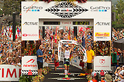 Frederik van Lierde wins the 2013 Ironan World Championships in Kona, Hawaii.<br />