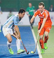RAIPUR (India) . Mirco Pruijser (Ned)   tijdens de wedstrijd tussen Nederland en Argentinie,  in de finaleronde van de Hockey World League. COPYRIGHT  KOEN SUYK