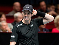 Andy Murray during the Tie Break Tens competition at the Erste Bank Open 500 at the Wiener Stadthalle, Vienna, Austria.<br /> Picture by EXPA Pictures/Focus Images Ltd 07814482222<br /> 23/10/2016<br /> *** UK & IRELAND ONLY ***<br /> <br /> EXPA-PUC-161024-0028.jpg