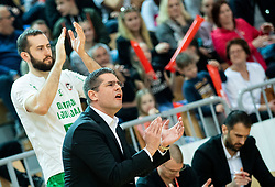 Aleksandar Saso Nikitovic, coach of Petrol Olimpija during basketball match between KK Sixt Primorska and KK Petrol Olimpija in semifinal of Spar Cup 2018/19, on February 16, 2019 in Arena Bonifika, Koper / Capodistria, Slovenia. Photo by Vid Ponikvar / Sportida