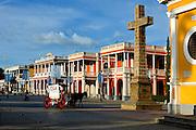 Nicaragua / Granada / Independence Plaza / Horse Carriage / Private.Colonial Homes / Cruz de Siglo (Cross)