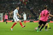 England Adam Lallana shoots at goal during the FIFA World Cup Qualifier group stage match between England and Scotland at Wembley Stadium, London, England on 11 November 2016. Photo by Phil Duncan.