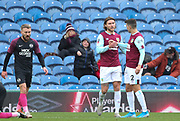 Jeff Hendrick of Burnley(left) celebrates his goal during the The FA Cup match between Burnley and Peterborough United at Turf Moor, Burnley, England on 4 January 2020.