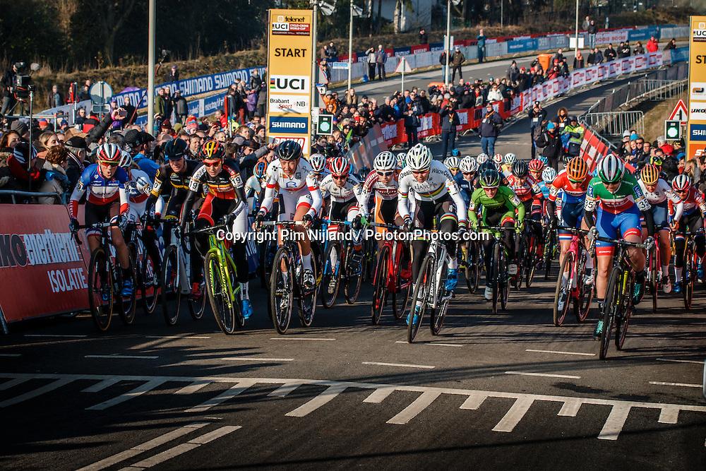 Women Elite race, UCI Cyclo-cross World Cup #8 at Hoogerheide, Noord-Brabant, The Netherlands, 22 January 2017. Photo by Pim Nijland / PelotonPhotos.com | All photos usage must carry mandatory copyright credit (Peloton Photos | Pim Nijland)