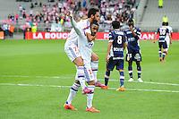 Joie Clement GRENIER / Alexandre LACAZETTE - 02.05.2015 - Lyon / Evian Thonon - 35eme journee de Ligue 1<br />Photo : Jean Paul Thomas / Icon Sport