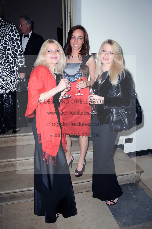 Left to right, YANA TERESHKOVA, ALINA VEGER and ANYA TERESHKOVA and  at the 13th annual Russian Summer Ball held at the Banqueting House, Whitehall, London on 14th June 2008.<br /><br />NON EXCLUSIVE - WORLD RIGHTS