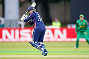 England womens cricket player Sarah Taylor (wk)  hits a boundary during the ICC Women's World Cup match between England and Pakistan at the Fischer County Ground, Grace Road, Leicester, United Kingdom on 27 June 2017. Photo by Simon Davies.