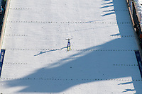 The ski jump facilities at Whistler Olympic Park are well received by athletes and coaches during the 2010 Olympic Winter Games in Whistler, BC Canada.