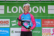 Hannah Barnes (GBR) riding for Canyon/SRAM Racing wins the Best British Rider award during the OVO Energy Women's Tour, London Stage, at Regent Street, London, United Kingdom on 11 June 2017. Photo by Martin Cole.