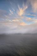 Foggy sunset Oregon Coast