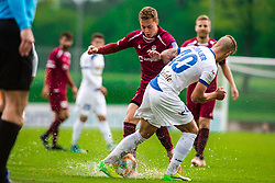 Tadej VIDMAJER vs Zan ROGELJ during Football match between NK Triglav Kranj and NK Celje, on May 12, 2019 in Sport center Kranj, Kranj, Slovenia. Photo by Peter Podobnik / Sportida