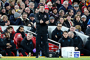 Everton Manager Marco Silva during the Premier League match between Liverpool and Everton at Anfield, Liverpool, England on 4 December 2019.