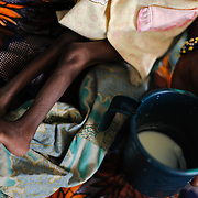 One year-old Houzeima Mani at a Save the Children stabilisation centre in Matamey in the Zinder region of Niger, where she is being treated for severe acute malnutrition. Her mother, Maria Abdou, says Houzeima is her only surviving child - seven others have died.