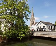 Bridge over River Avon, Fisherton Street, Salisbury, Wiltshire, England, UK