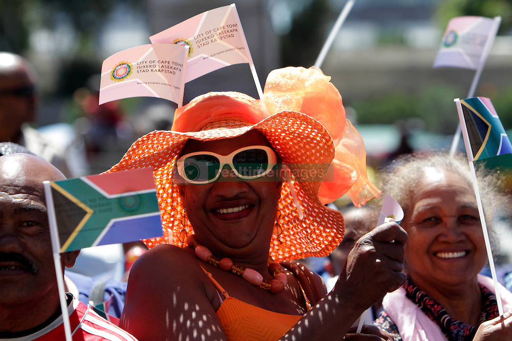 Monday 17th October 2016.<br /> Grand Parade & Greenpoint Athletics Stadium, Cape Town,<br /> Western Cape, South Africa.<br /> <br /> Cape Town Honours South African Olympic And Paralympic Heroes<br /> <br /> Excited fan Una Daniels (65) from Atlantis enjoys the event at Grand Parade.<br /> <br /> Cape Town honours the South African Olympic and Paralympic heroes during a special celebratory event held in Cape Town, Western Cape, South Africa on Monday 17 October 2016.<br /> <br /> Picture By: Mark Wessels / Real Time Images.