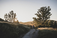 Sunrise on the Camino as pilgrims depart Hontanas for another day of walking. The time is 7:08 am. (June 16, 2018)<br /> <br /> DAY 20: HONTANAS TO BOADILLA DEL CAMINO -- 29 KM