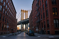 Manhattan Bridge from Washington & Water Streets, Brooklyn