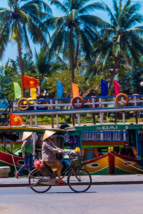Street scene on the waterfront, Hoi An, Vietnam.
