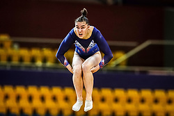 October 28, 2018 - Doha, Quatar - Louise Vanhille of  France   during  Floor qualification at the Aspire Dome in Doha, Qatar, Artistic FIG Gymnastics World Championships on 28 of October 2018. (Credit Image: © Ulrik Pedersen/NurPhoto via ZUMA Press)