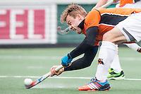 AMSTERDAM - Amsterdam - Oranje Zwart , Wagener Stadion , Hockey , Play-off hoofdklasse hockey heren , 03-05-2015 , Oranje Zwart speler Mink van der Weerden