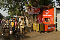 A Vodafone store near Old Delhi train station, India.