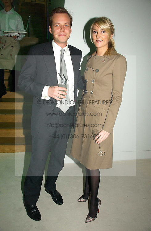 JAMIE ALLSOPP and LADY EMILY COMPTON at an exhibition of David Hockney portraits at the National Portrait Gallery sponsored by Burberry on 11th October 2006.<br />