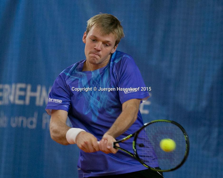 Kevin Krawietz (GER)<br /> <br /> Tennis - Ismaning Open 2015 - ITF 10.000 -  TC Ismaning - Ismaning - Bavaria - Germany - 29 October 2015. <br /> &copy; Juergen Hasenkopf