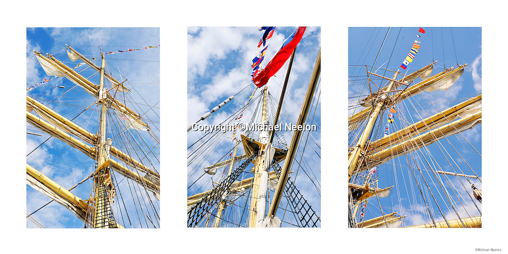 "Poster Tall Ship Sailing Vessel Mast 12"" x 24"" Triptych Poster II $30.00"