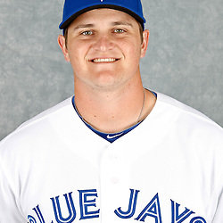 March 2, 2012; Dunedin, FL, USA; Toronto Blue Jays starting pitcher Chad Jenkins (70) poses for a portrait during photo day at Florida Auto Exchange Stadium.  Mandatory Credit: Derick E. Hingle-US PRESSWIRE