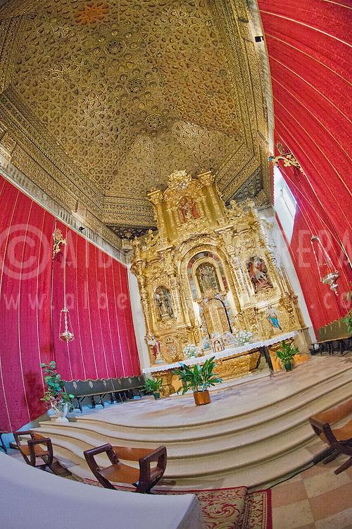 Alberto Carrera, Main Altarpiece, Church of Monastery of San Antonio el Real,  Segovia, World Heritage Site UNESCO, Castilla y Le&oacute;n, Spain, Europe.<br /> <br /> EDITORIAL USE ONLY