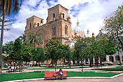 ECUADOR, CUENCA colonial architecture; Cathedral