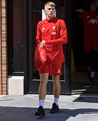 SOUTH BEND, INDIANA, USA - Tuesday, July 16, 2019: Liverpool's goalkeeper Daniel Atherton departs the team hotel in South Bend for their first training session at the start of the club's pre-season tour of America. (Pic by David Rawcliffe/Propaganda)