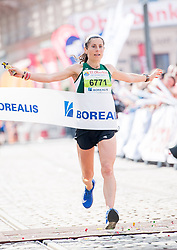 15.04.2018, Linz, AUT, Oberbank Linz Donau Marathon, während des Linz Donau Marathon am Sonntag, 15. April 2018, in Linz, im Bild Karin Freitag (AUT) // Karin Freitag of Austria during the Oberbank Linz Donau Marathon in Linz, Austria on 2018/04/15. EXPA Pictures © 2018, PhotoCredit: EXPA/ Michael Gruber