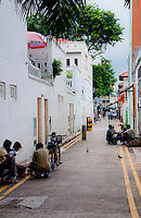 Backstreet scene in Little India in Singapore