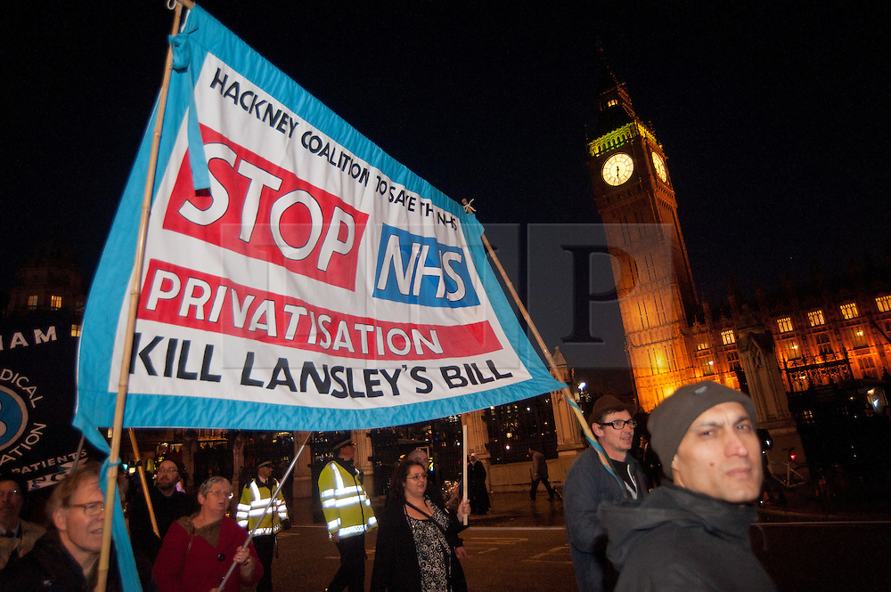 © licensed to London News Pictures. London, UK. 07/03/12. 'Save our NHS' march & rally in Central London in protest against proposed government changes to the National Health Service. Photo credit: Jules Mattsson/LNP