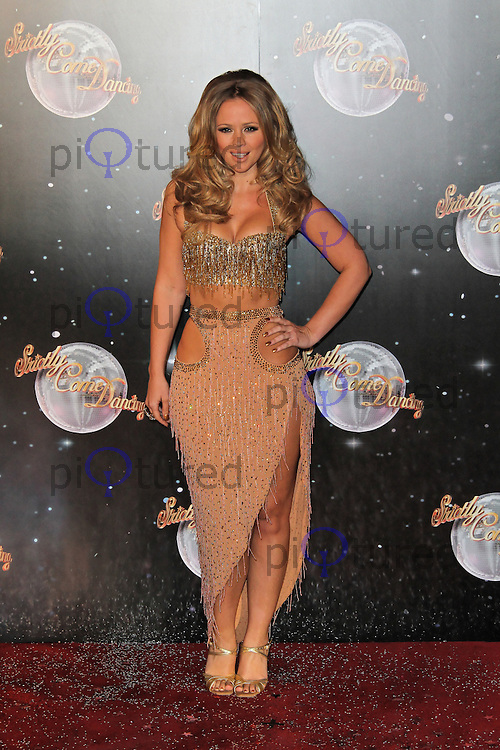 LONDON - SEPTEMBER 11: Kimberley Walsh attended the Strictly Come Dancing Launch at the BBC Television Centre, London, UK. September 11, 2012. (Photo by Richard Goldschmidt)