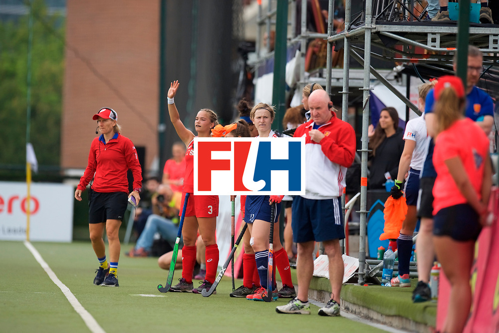 SANTIAGO - 2016 8th Women's Hockey Junior World Cup.<br /> 39 ENG v USA (7 / 8 Place)<br /> foto: Craig KEEGAN <br /> FFU PRESS AGENCY COPYRIGHT FRANK UIJLENBROEK