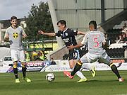 Dundee's Paul McGowan goes past St Mirren's Ellis Plummer - St Mirren v Dundee, SPFL Premiership at St Mirren Park<br /> <br />  - &copy; David Young - www.davidyoungphoto.co.uk - email: davidyoungphoto@gmail.com