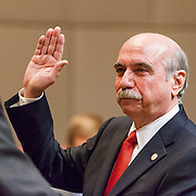 Dan Clodfelter recites the Oath of Office, becoming Mayor Cannon's replacement.