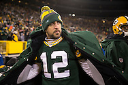 Green Bay Packers quarterback Aaron Rodgers (12)  warms up on the sidelines during an NFL football game between the Green Bay Packers and the Seattle Seahawks Sunday, December 11, 2016, in Green Bay,  WI.  (Tom Hauck via AP)