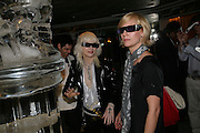PAM HOGG AND ANNA SCHORI, Beyond Belief-Damien Hirst. White Cube Hoxton and Mason's Yard.Party  afterwards at the Dorchester. Park Lane. 2 June 2007.  -DO NOT ARCHIVE-© Copyright Photograph by Dafydd Jones. 248 Clapham Rd. London SW9 0PZ. Tel 0207 820 0771. www.dafjones.com.