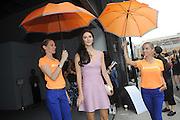 Caroline Byron - celebrity chef and fashionista outside of Rebecca Minkoff at New York Fashion Week