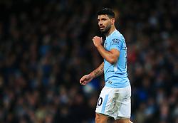 Sergio Aguero of Manchester City - Mandatory by-line: Matt McNulty/JMP - 10/02/2018 - FOOTBALL - Etihad Stadium - Manchester, England - Manchester City v Leicester City - Premier League
