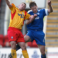 St Johnstone v Ayr Utd.. 05.04.03<br />Ian Maxwell and Neil Murray<br /><br />Pic by Graeme Hart<br />Copyright Perthshire Picture Agency<br />Tel: 01738 623350 / 07990 594431
