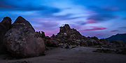 Alabama Hills Landscape At Sundown