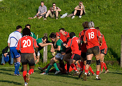 Peter Gobec of Slovenia at Rugby match between National team of Slovenia (green) and Norway (red) at EUROPEAN NATIONS CUP 2008-2010 of B group 3rd division, on April 25, 2008, in Stanezice, Ljubljana, Slovenia. (Photo by Vid Ponikvar / Sportida)